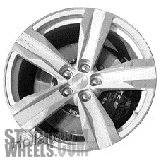 Picture of Chevrolet CAMARO (2012-2015) 20x11 Aluminum Alloy Polished with Silver 5 Spoke [05533]