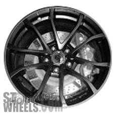 Picture of Chevrolet CORVETTE (2012) 20x12 Aluminum Alloy Black with Red Stripe 5 V Spoke [05539]