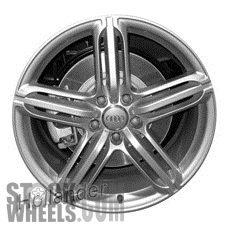 Picture of Audi Q7 (2010-2015) 21x10 Aluminum Alloy Chrome 5 Triple Spoke [58886]