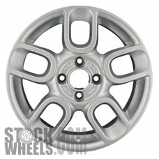 Picture of Fiat 500 (2012-2018) 15x6 Aluminum Alloy Chrome 5 Double Spoke [61660]