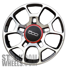 Picture of Fiat 500 (2012-2018) 16x6.5 Aluminum Alloy Chrome 5 Split Spoke [61663]