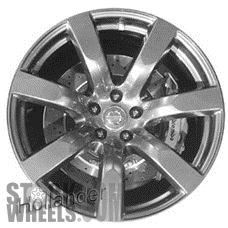 Picture of Nissan GT-R (2009-2010) 20x9.5 Aluminum Alloy Bright Hyper Silver 7 Spoke [62519A]