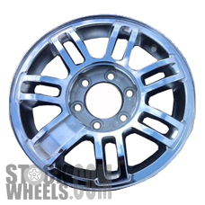 Picture of Hummer H3 (2006-2009) 16x7.5 Aluminum Alloy Chrome with Textured Pockets 7 Double Spoke [06306]