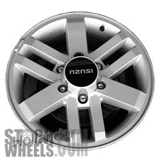 Picture of Isuzu AXIOM (2002-2004) 17x7 Aluminum Alloy Chrome 9 Spoke [64237B]