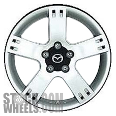 Picture of Mazda 6 (2003-2005) 17x7 Aluminum Alloy Chrome 5 Spoke [64880]