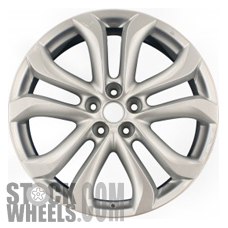 Picture of Mazda CX-9 (2011-2013) 20x7.5 Aluminum Alloy Silver 5 Split Spoke [64945]