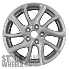Picture of Mazda 3 (2012-2013) 17x7 Aluminum Alloy Chrome 5 Split Spoke [64947]