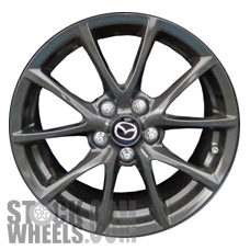 Picture of Mazda MX-5 MIATA (2013-2015) 17x7 Aluminum Alloy Chrome 5 V Spoke [64950]