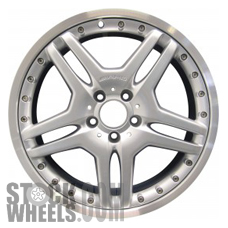 Picture of Mercedes CL-CLASS (2005-2006) 19x9.5 Aluminum Alloy Charcoal with Machined Edge 5 Double Spoke [65349]