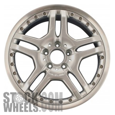 Picture of Mercedes SLK (2006-2011) 18x8.5` Aluminum Alloy Hyper Silver 5 Double Spoke [65404]
