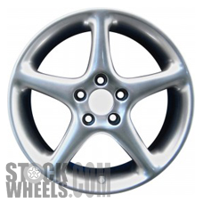 Picture of Saab 9-3 (1999-2002) 17x7.5 Aluminum Alloy Chrome 5 Spoke [68196]