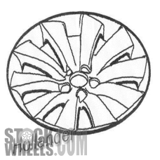 Picture of Saab 9-3 (2012) 18x7.5 Aluminum Alloy Chrome 10 Spoke [68270]