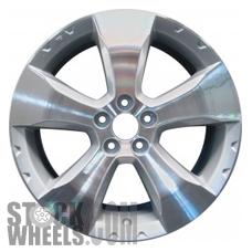 Picture of Subaru FORESTER (2009-2013) 17x7 Aluminum Alloy Chrome 5 Spoke [68781]