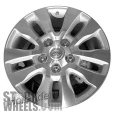 Picture of Toyota TUNDRA (2010-2018) 20x8 Aluminum Alloy Chrome 5 Double Spoke [69533]