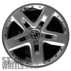 Picture of Volkswagen TOUAREG (2006-2010) 20x9 Aluminum Alloy Chrome 5 Spoke [69836]