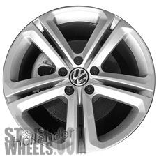 Picture of Volkswagen JETTA (2015-2018) 18x7 Aluminum Alloy Chrome 5 Double Spoke [69987]