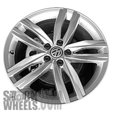 Picture of Volkswagen GOLF (2015-2018) 18x7.5 Aluminum Alloy Chrome 5 Double Spoke [69989]