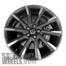 Picture of Volvo V60 (2015-2017) 19x8 Aluminum Alloy Chrome 10 Spoke [70395]