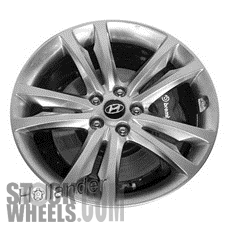 Picture of Hyundai GENESIS (2009-2012) 19x8 Aluminum Alloy Chrome  (for use with TPMS Sensor) 5 Double Spoke [70790A]