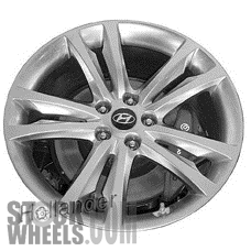 Picture of Hyundai GENESIS (2009-2012) 19x8.5 Aluminum Alloy Chrome  (for use with TPMS Sensor) 5 Double Spoke [70791A]