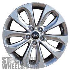 Picture of Hyundai SONATA (2011-2013) 18x7.5 Aluminum Alloy Chrome  (for use w/o TPMS Sensor) 5 Split Spoke [70804B]