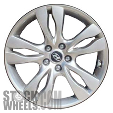 Picture of Hyundai VERACRUZ (2012) 18x7 Aluminum Alloy Chrome  (for use with TPMS Sensor) 5 Double Spoke [70823A]