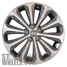 Picture of Hyundai GENESIS (2012-2014) 19x8 Aluminum Alloy Chrome  (for use w/o TPMS Sensor) 10 Spoke [70824B]