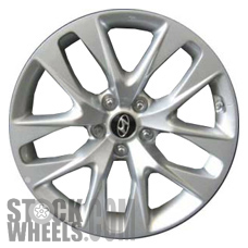 Picture of Hyundai GENESIS (2013-2016) 18x7.5 Aluminum Alloy Chrome  (for use w/o TPMS Sensor) 5 Double Spoke [70839B]