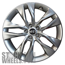 Picture of Hyundai GENESIS (2013-2016) 19x8.5 Aluminum Alloy Chrome  (for use w/o TPMS Sensor) 5 Double Spoke [70842B]