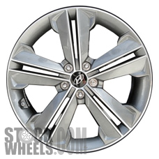 Picture of Hyundai SANTA FE (2013-2016) 19x7.5 Aluminum Alloy Chrome  (for use with TPMS Sensor) 5 Double Spoke [70847A]