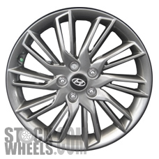 Picture of Hyundai VELOSTER (2013) 18x7.5 Aluminum Alloy Chrome 10 Double Spoke [70850]