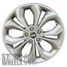 Picture of Hyundai SANTA FE (2013-2016) 19x7.5 Aluminum Alloy Chrome  (for use w/o TPMS Sensor) 5 Double Spoke [70854]