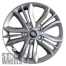 Picture of Hyundai TUCSON (2014-2015) 17x6.5 Aluminum Alloy Chrome  (for use w/o TPMS Sensor) 5 Triple Spoke [70856B]