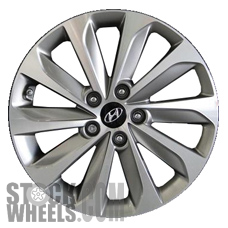 Picture of Hyundai SONATA (2015-2017) 17x7 Aluminum Alloy Chrome  (for use w/o TPMS Sensor) 10 Spoke [70877B]