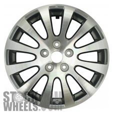 Picture of Suzuki KIZASHI (2010-2013) 17x7 Aluminum Alloy Machined with Charcoal 12 Spoke [72710]