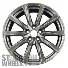 Picture of Lexus IS-F (2008-2014) 19x9 Aluminum Alloy Dark Hyper Silver 10 Spoke [74208B]