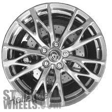 Picture of Lexus IS-F (2010-2014) 19x9 Aluminum Alloy Chrome 5 Triple Spoke [74262]