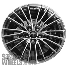 Picture of Lexus RC F (2015-2019) 19x10 Aluminum Alloy Machined with Charcoal 10 Y Spoke [74322]