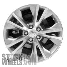 Picture of Toyota HIGHLANDER (2014-2018) 18x7.5 Aluminum Alloy Chrome 5 Split Spoke [75162]