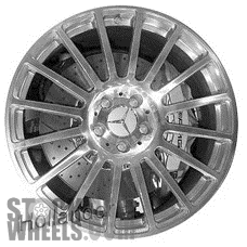 Picture of Mercedes CLK (2008-2009) 19x9.5 Aluminum Alloy Polished 16 Spoke [85002]