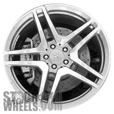 Picture of Mercedes CL-CLASS (2008-2014) 20x8.5 Aluminum Alloy Polished with Charcoal 5 Double Spoke [85051A]