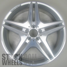 Picture of Mercedes CL-CLASS (2013-2014) 20x8.5 Aluminum Alloy Polished with Black 5 Double Spoke [85051B]