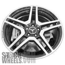 Picture of Mercedes CL-CLASS (2013-2014) 20x9.5 Aluminum Alloy Machined with Charcoal 5 Double Spoke [85052B]