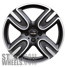 Picture of Mini COOPER (2013) 17x7.5 Aluminum Alloy Chrome 4 Spoke [86075]