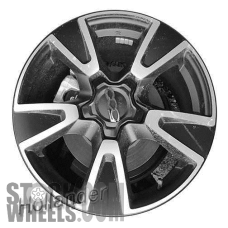 Picture of Fiat 500X (2016-2018) 17x7 Aluminum Alloy Machined with Black 5 V Spoke [61677]