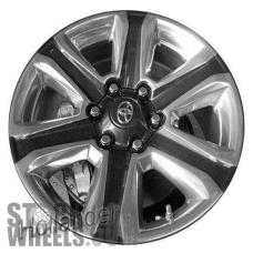Picture of Toyota TACOMA (2016-2019) 18x7.5 Aluminum Alloy Polished with Charcoal 6 Spoke [75194]
