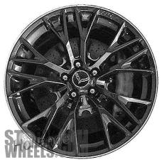 Picture of Chevrolet CORVETTE (2016-2018) 19x10 Aluminum Alloy Black with Machined Edge 10 Y Spoke [05735]