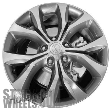 Picture of Chrysler PACIFICA (2017-2018) 20x7.5 Aluminum Alloy Polished with Grey 5 Split Y Spoke [02596]