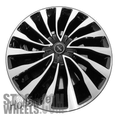 Picture of Lincoln CONTINENTAL (2017-2018) 20x8.5 Aluminum Alloy Machined with Black 15 Spoke [10092]