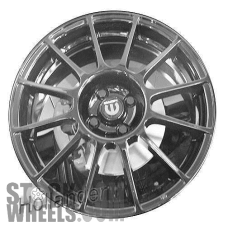 Picture of Fiat 500 (2012-2018) 17x7 Aluminum Alloy Hyper Silver 12 Spoke [61665]